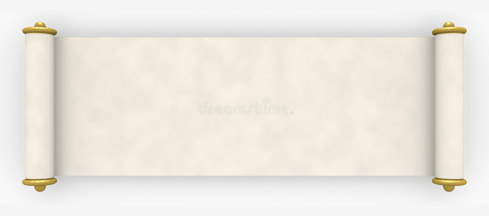 Parchment scroll stock illustration