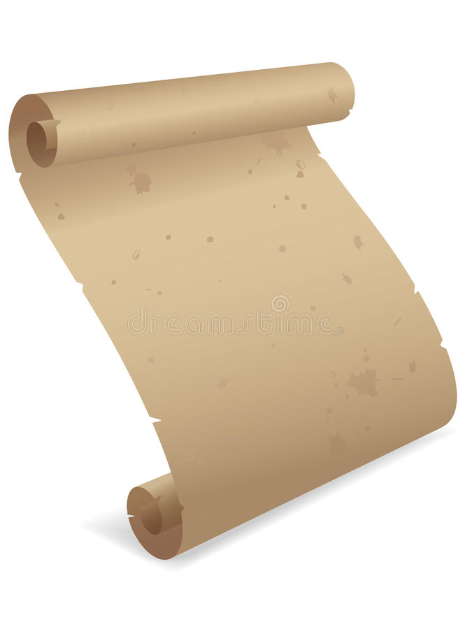 Parchment Scroll 3D EPS vector illustration