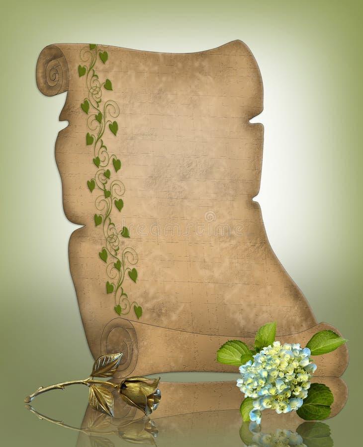 Download Parchment Scroll Background Stock Illustration - Illustration: 7108430