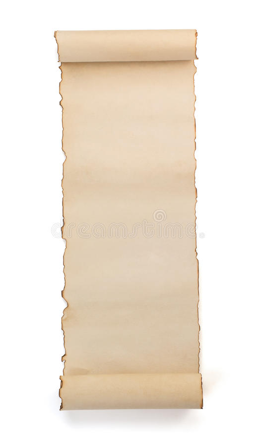 Free Parchment Scroll Isolated On White Stock Images - 56081694