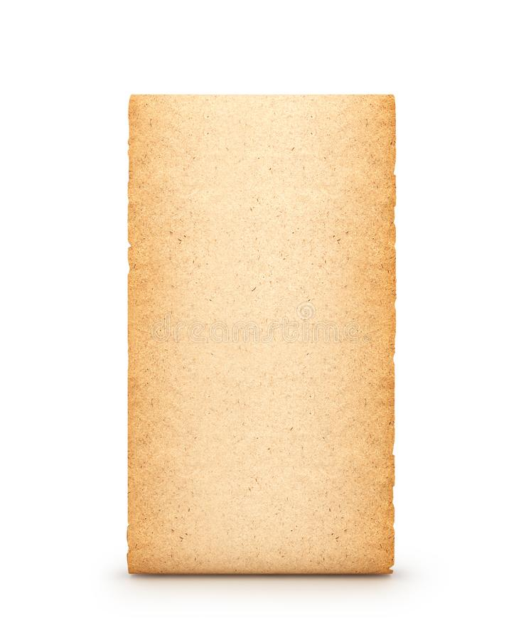 Parchment, scroll, isolated on white background. 3d royalty free stock photography