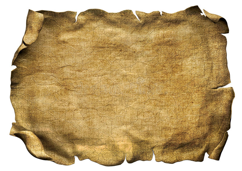 pirate scroll template - parchment scroll pirate paper stock illustration