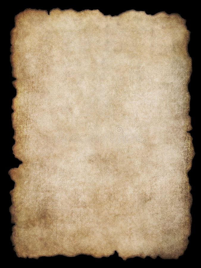 Parchment texture 4. Old torn list of parchment, antique background texture of a page from an ancient book stock image