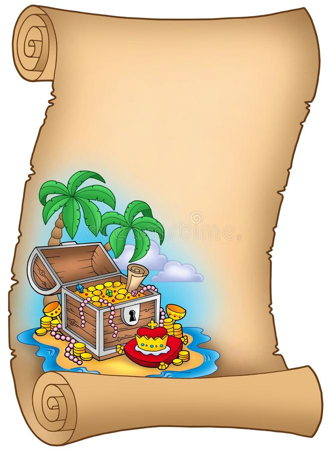 Free Parchment With Treasure On Island Royalty Free Stock Image - 11738026