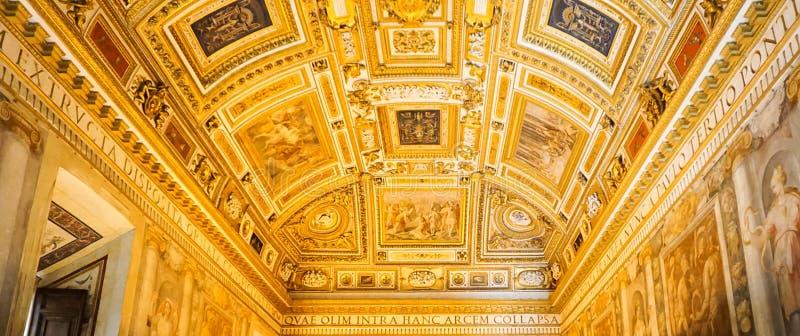 PARCO ADRIANO, ROME, ITALIË: 11 OKTOBER, 2017: De Palino-Zaal a stock afbeeldingen
