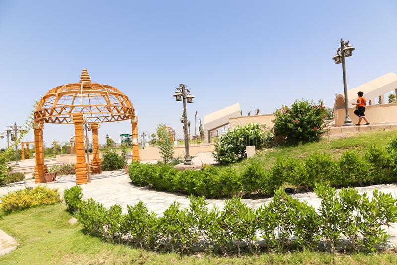 Parco africano a Assuan, Egitto immagine stock libera da diritti