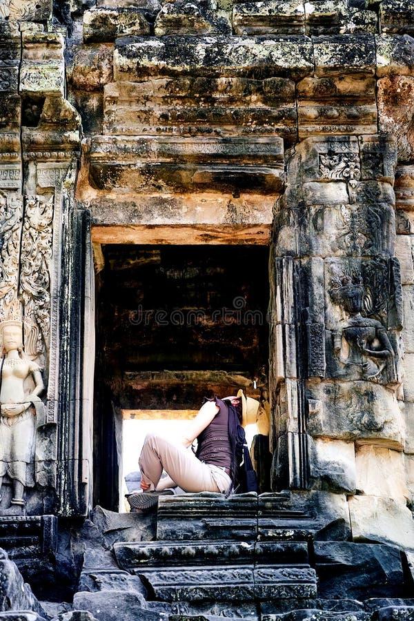 Parco archeologico di Angkor Wat, Siem Reap, Cambogia immagini stock