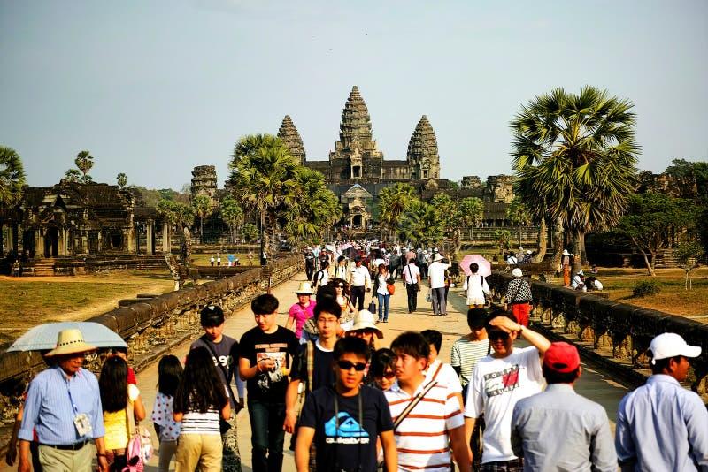 Parco archeologico di Angkor Wat, Siem Reap, Cambogia fotografia stock libera da diritti