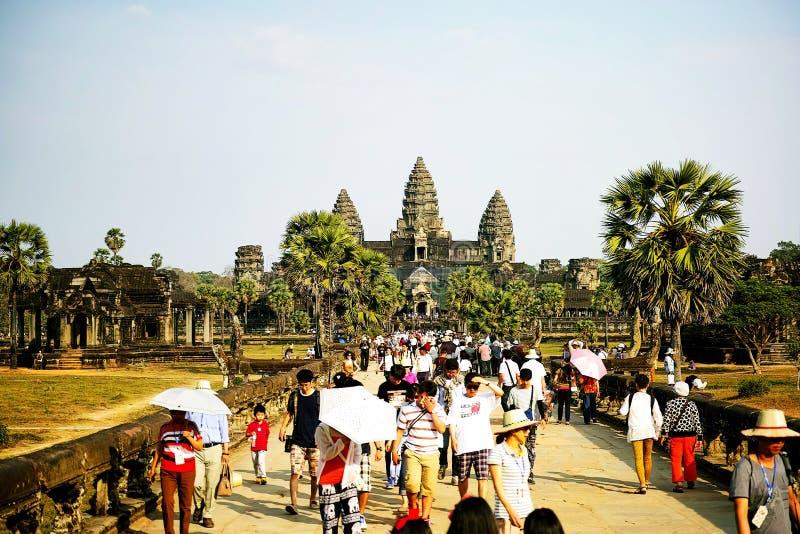 Parco archeologico di Angkor Wat, Siem Reap, Cambogia fotografia stock