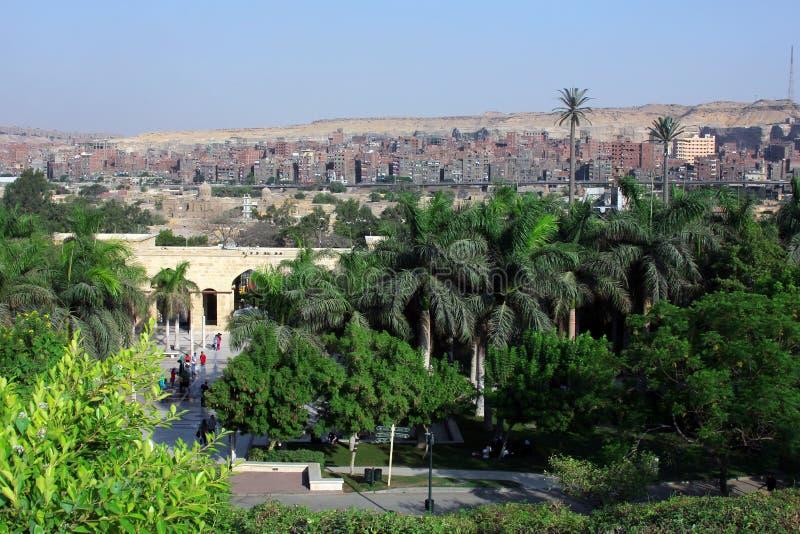 Parco azhar di Al nell'egitto fotografia stock libera da diritti