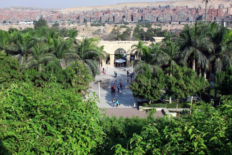 Parco azhar di Al nell'egitto immagine stock libera da diritti