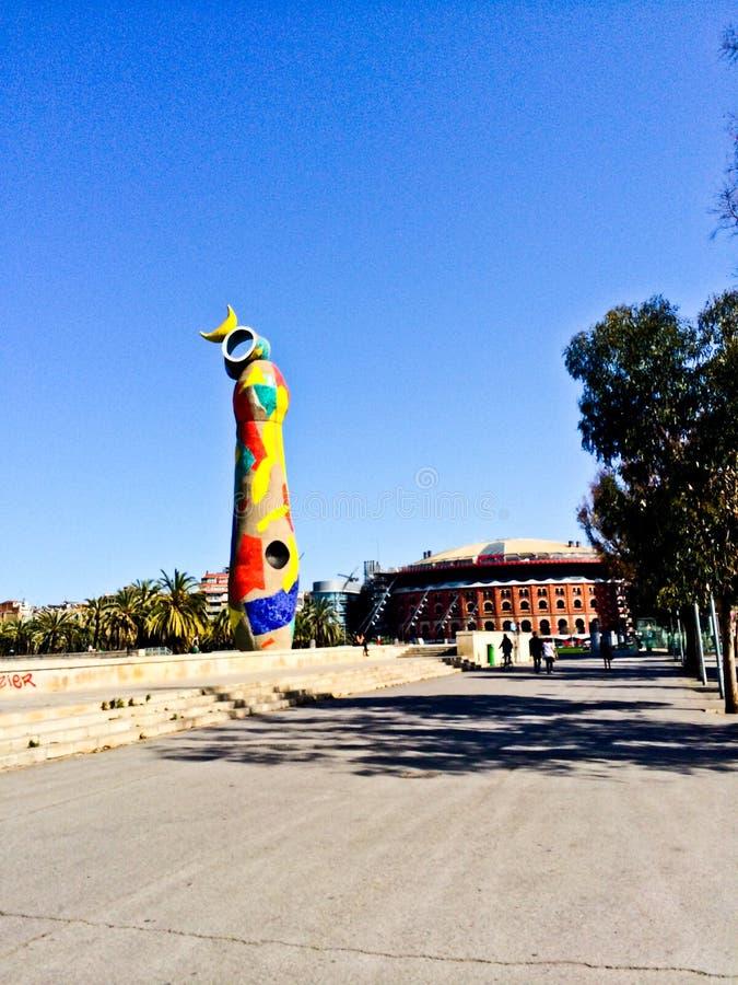 Parco Barcellona di Joan Miro fotografie stock libere da diritti