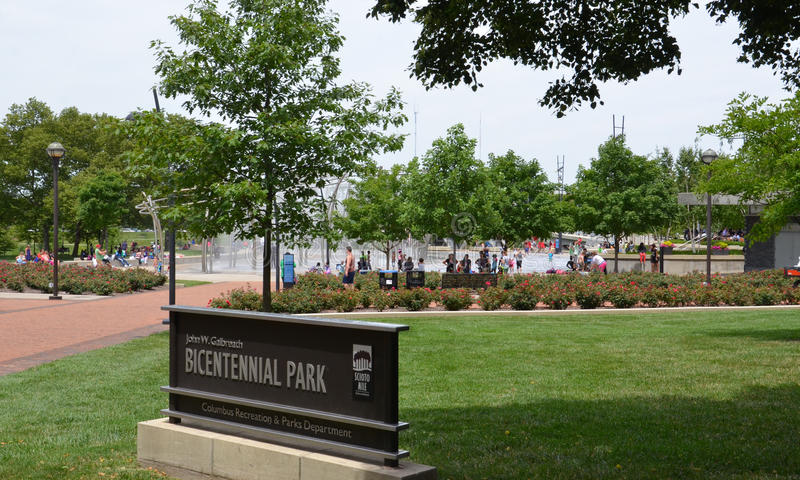 Parco bicentenario, Columbus fotografia stock