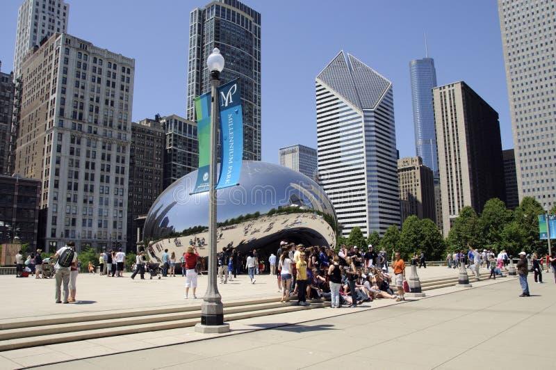 Parco Chicago U.S.A. di millennio fotografia stock