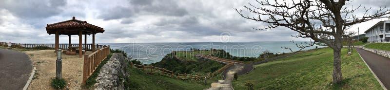 Parco circondante di Chinen del capo di vista di paesaggio nel Giappone immagini stock