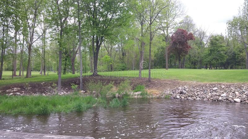 Parco con acqua immagini stock libere da diritti