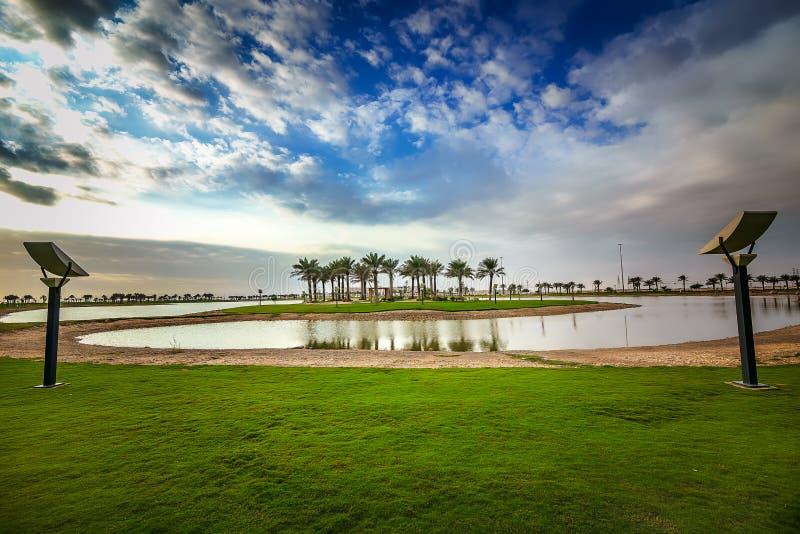 Parco-Dammam Arabia Saudita del lago Modon immagini stock