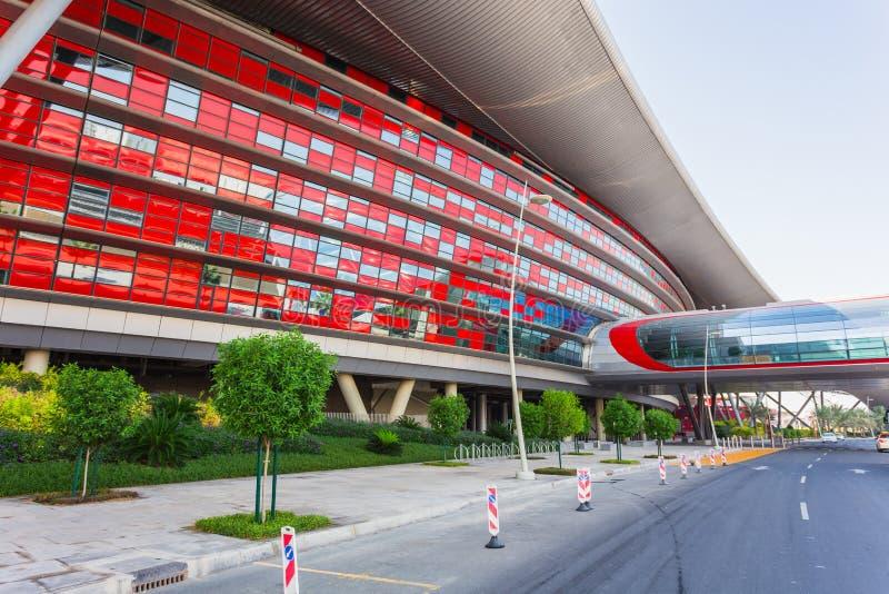 Parco del mondo di Ferrari in Abu Dhabi fotografia stock libera da diritti