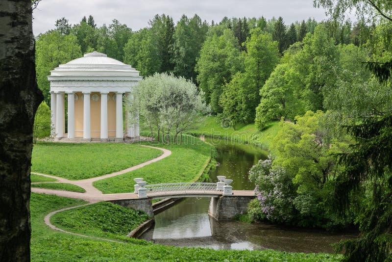 Parco del paesaggio nella periferia di St Petersburg - Pavlovsk fotografia stock libera da diritti