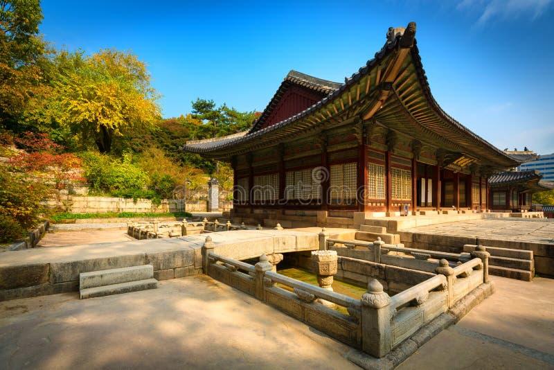 Parco del palazzo di Changgyeonggung, Seoul, Corea del Sud. immagini stock