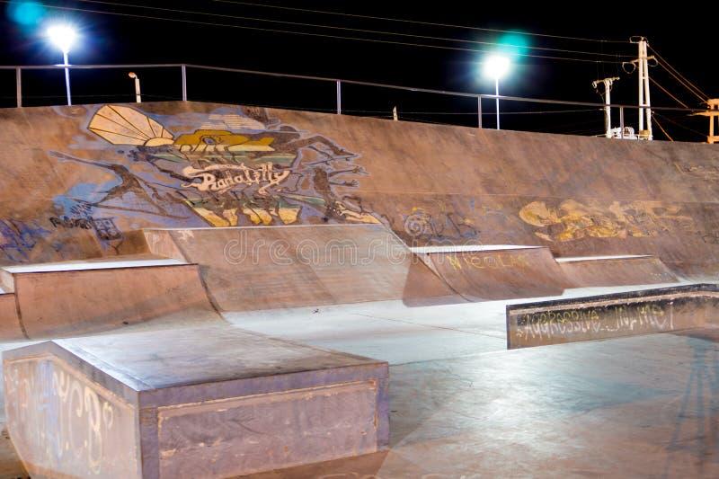 Parco del pattino alla notte immagine stock libera da diritti