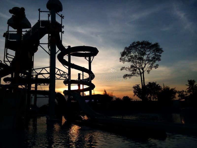 Parco dell'acqua di Silluate fotografia stock libera da diritti