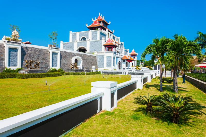 Parco dell'Asia del mondo di Sun, Danang fotografia stock libera da diritti