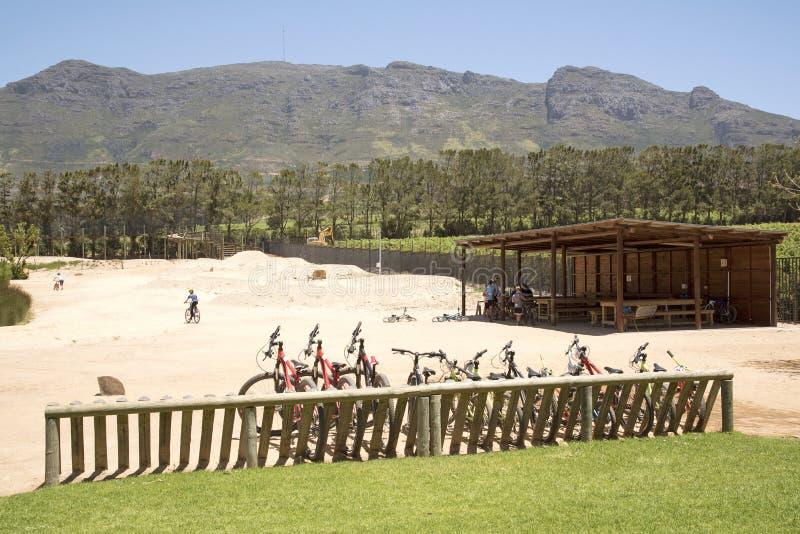 Parco della bici nella Provincia del Capo Occidentale Sudafrica fotografia stock libera da diritti
