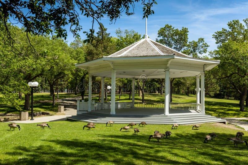 Parco della città di Regina nel Canada immagine stock