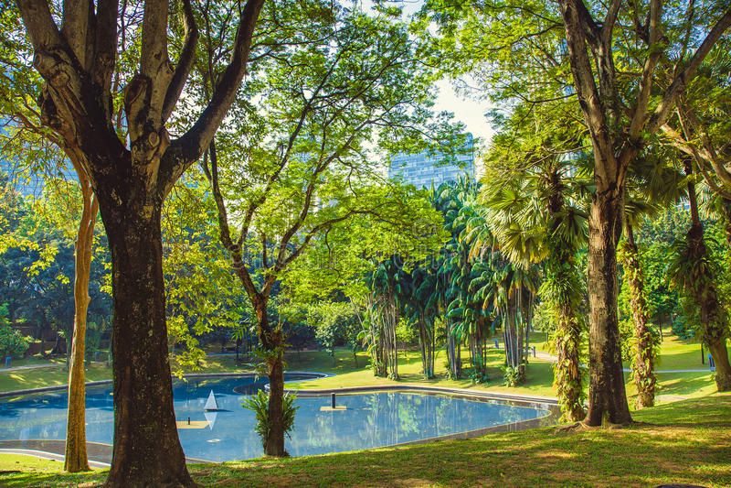 Parco della città in Kuala Lumpur malaysia fotografia stock