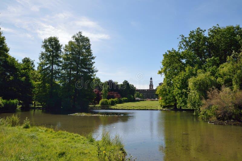 Parco della città a Milano fotografie stock