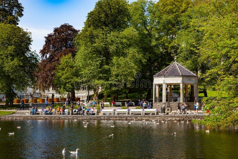 Parco della città a Stavanger fotografia stock libera da diritti