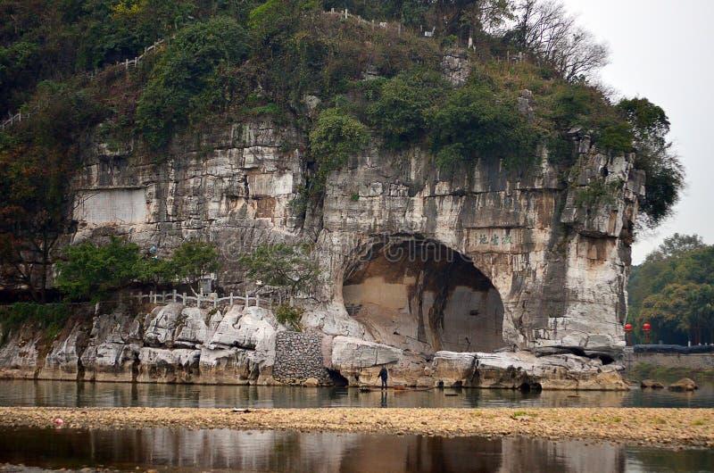 Parco della collina del Elefante-tronco di Guilin Guilin è una città circondata da molti montagne di morfologia carsica e bello p fotografie stock