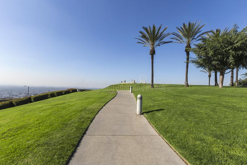 Parco della collina del segnale in Long Beach California fotografia stock