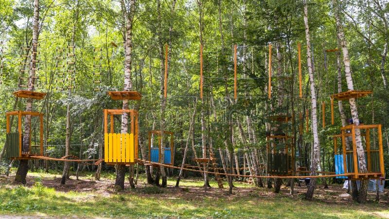 Parco della corda fotografia stock