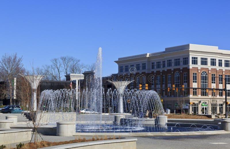 Parco della fontana della collina della roccia in Sc fotografia stock