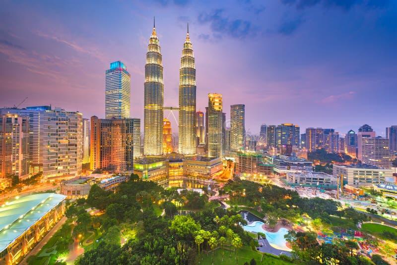 Parco della Malesia, di Kuala Lumpur e orizzonte fotografia stock