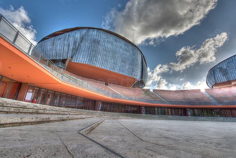 Parco della Musica. 19 March 2014: Auditorium Parco della Musica to Rome Italy. Parco della Musica was designed by Italian architect Renzo Piano stock images