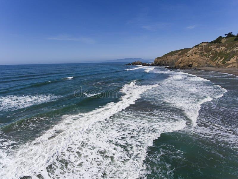 Parco della roccia della cozza in Pacifica, California fotografia stock