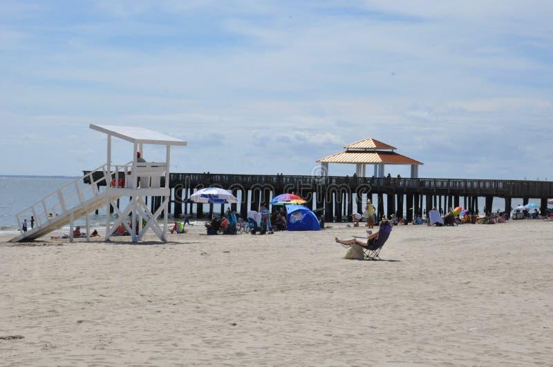 Parco della spiaggia di Buckroe a Hampton, la Virginia fotografia stock libera da diritti
