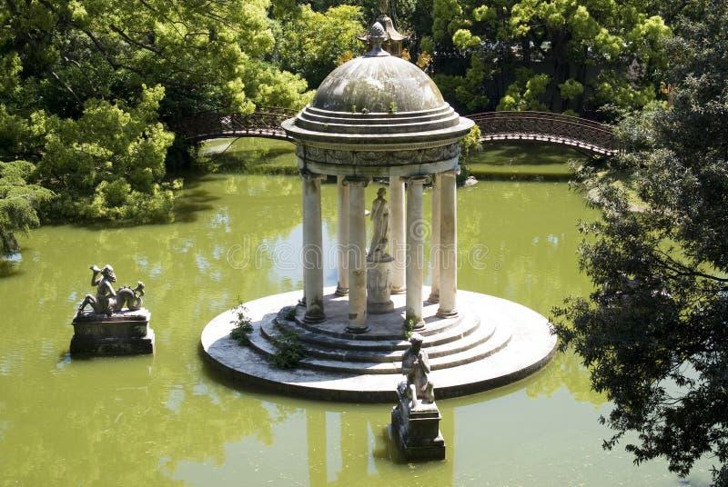 Parco della villa Pallavicini a Genova fotografia stock libera da diritti