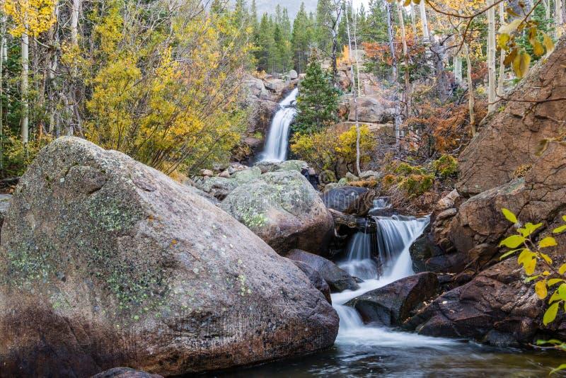 Parco di Alberta Falls Rocky Mountain National immagini stock libere da diritti