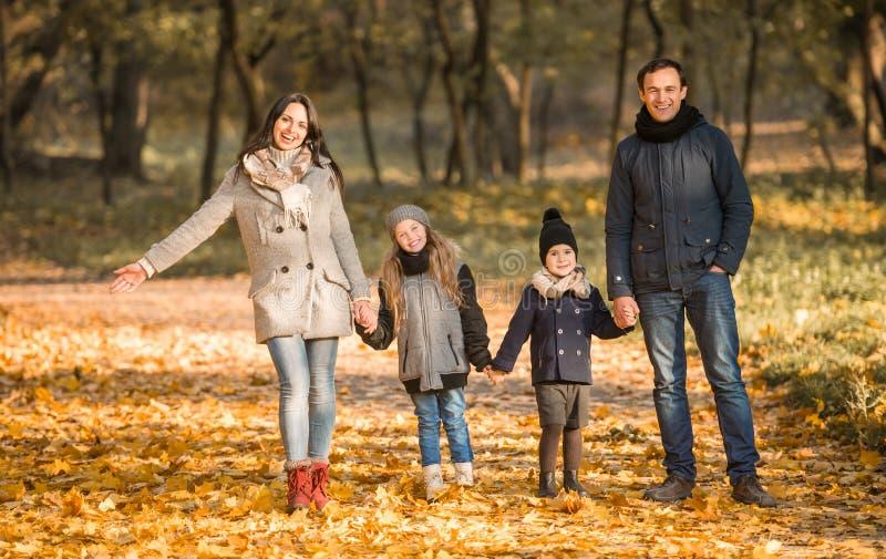 Parco di autunno della passeggiata immagini stock libere da diritti