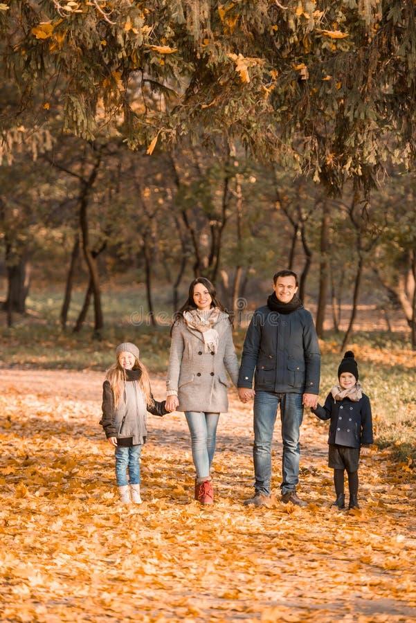 Parco di autunno della passeggiata fotografie stock