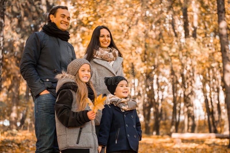 Parco di autunno della passeggiata immagine stock libera da diritti
