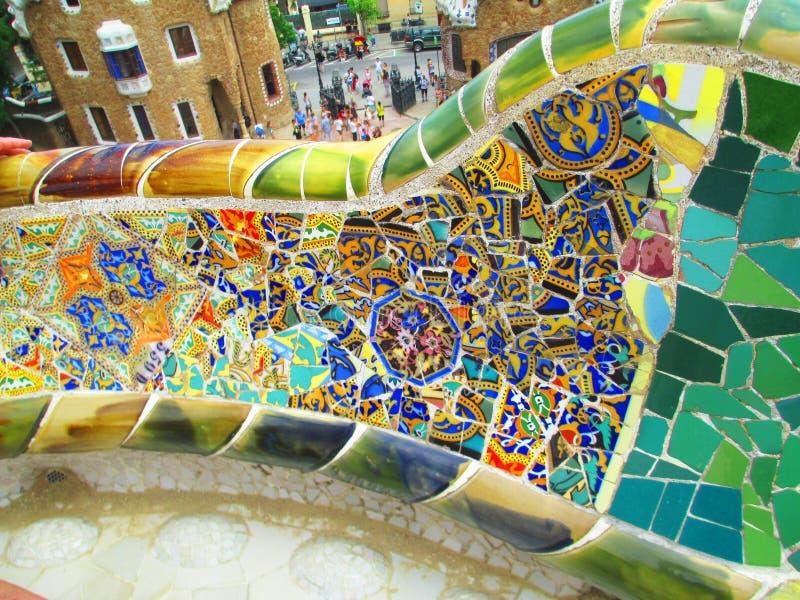 Parco di Barcellona Guell immagini stock libere da diritti