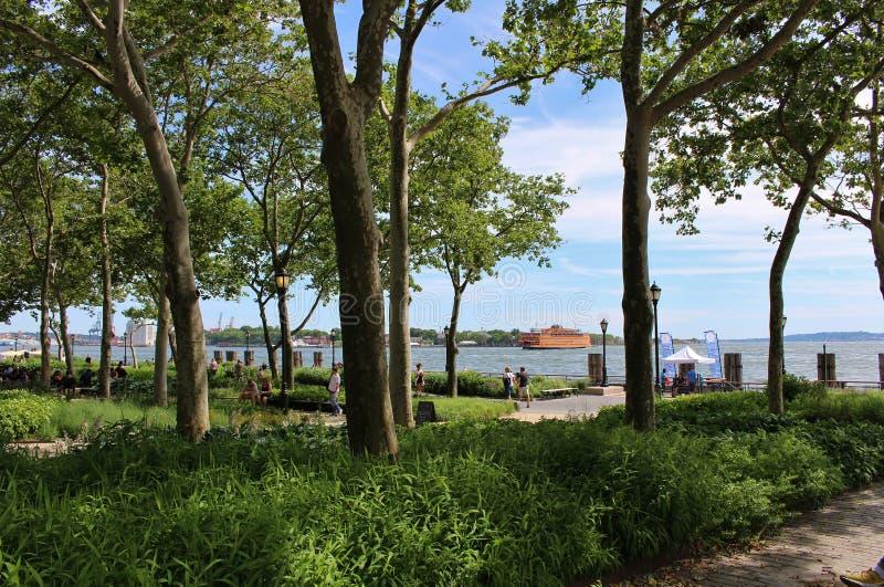 Parco di batteria, New York immagine stock libera da diritti