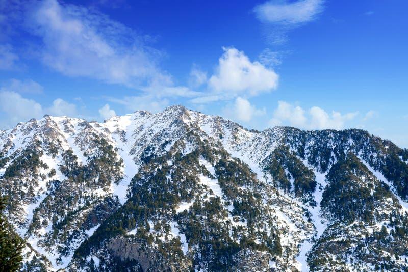 Parco di Benasque Posets Maladeta di Pirenei Spagna fotografia stock