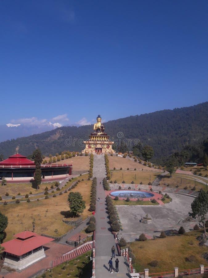 Parco di Buddha, Ravangla Sikkim del sud fotografie stock libere da diritti