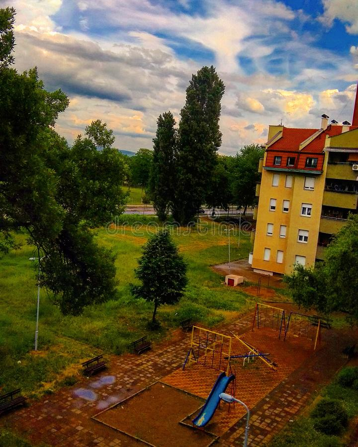 Parco di Colorized fotografie stock